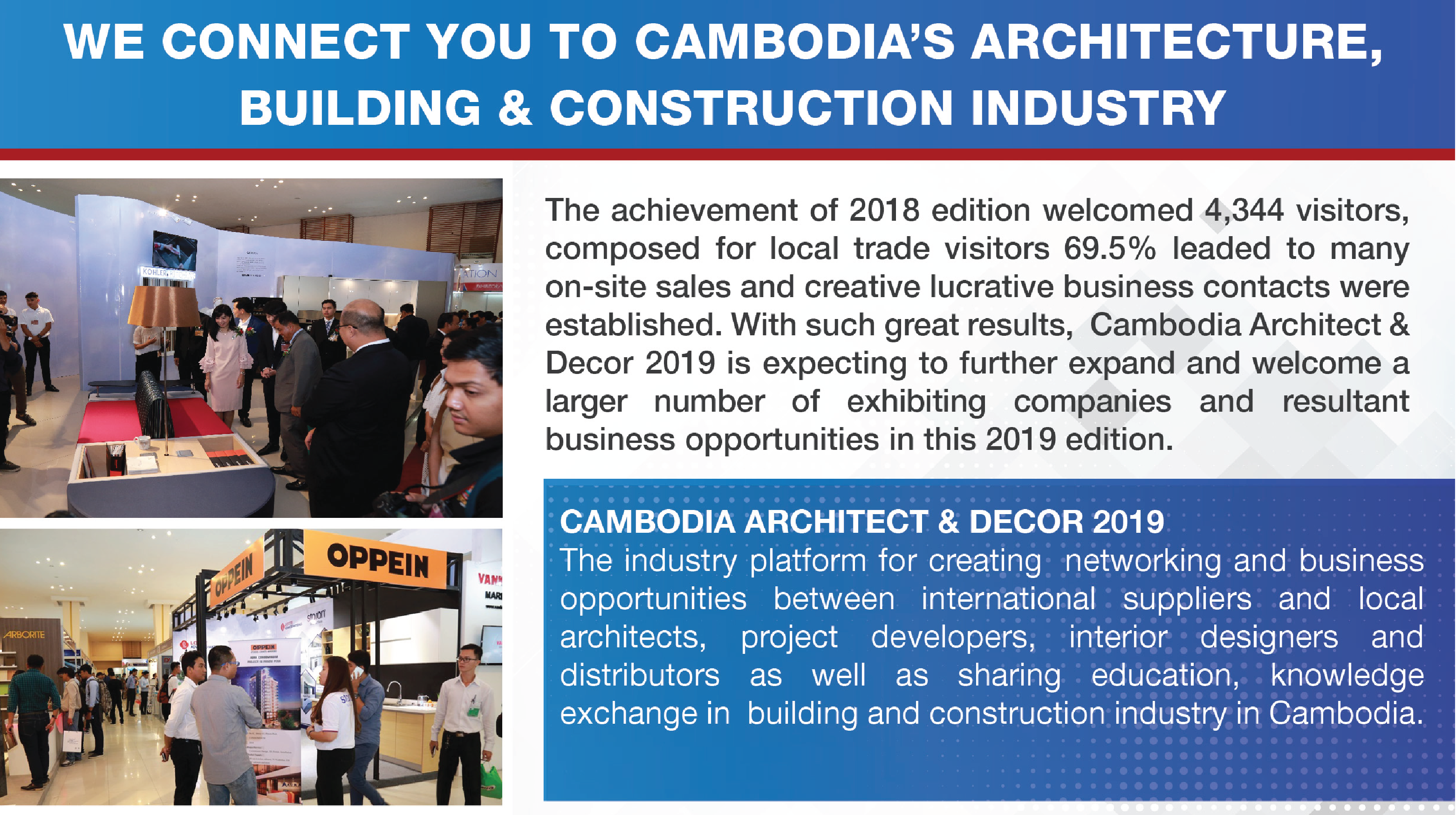 We connect you to Cambodia's architecture, building and construction industry